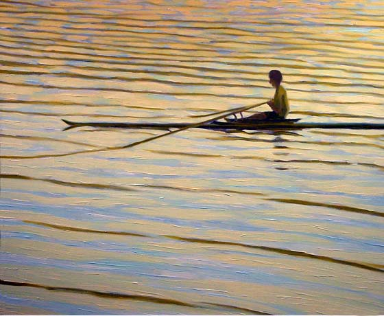 ROWING IN THE SUNSET II
